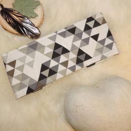 Stirnband Dreiecke grau