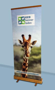 Bambus-RollUp mit Polyester-Banner