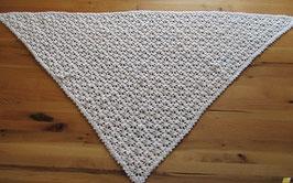 """Seelenschmeichler Dreieckstuch """"Ornamente/Blütentraum"""" in weiß"""