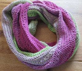 """Seelenschmeichler Loop-Schal """"Verbundenheit"""" pink-apfelgrün"""