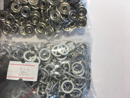 Jersey Druckknöpfe weiss Ring 360 Stück
