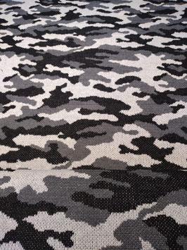 Jaquard Strick Camouflage Grau