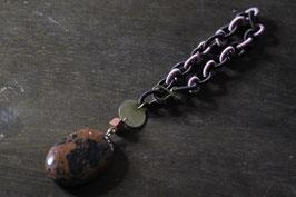 TASCHENANHÄNGER+mahogany obsidian+N+358