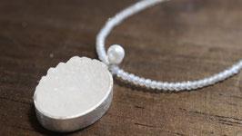 ANHÄNGER+bergkristalldruse+perle