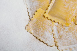 SQUARES Tortelli with Potato Speck and Cacio cheese