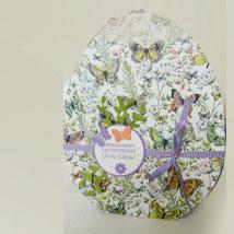 Osterpaket 6 » dekoriertes Osterei Größe M aus Pappe