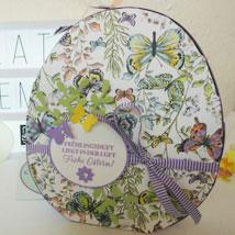 Osterpaket 5 » dekoriertes Osterei Größe S aus Pappe