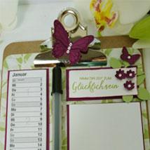 1. Materialpaket » Kalender mit Klemmbrett