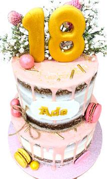"Tarta ""layer cake oro+rosa"""