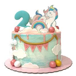 "Tarta ""Unicornio arcoiris"""