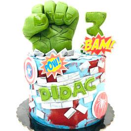 """Tarta """"Layercake Hulk mod.1"""""""