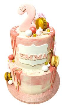 """Tarta drip cake """"rosas"""""""