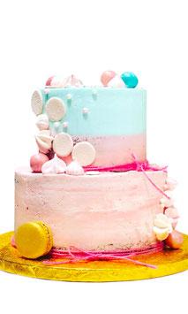"Tarta ""layer azul y rosa"""