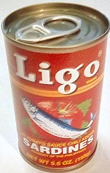 Art. 1422 Sardinen in Tomatensauce mit Chili ( scharf) Ligo 155g...