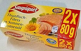 Art. 1425 Saupiquet Thunfischfilet in Sonnenblumenöl 2 x 80g...