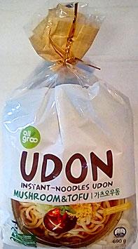Art.1244 Frische Udon Nudeln Allgroo Tofu 3 Portionen mit Gewürzmischungen 690g...