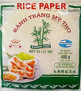 Art. 1039 Reispapier Rund 22cm Bamboo Tree für Frühlingsrollen 400g haltbar bis 13.12.2021.....