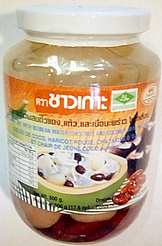 Art. 2229 Kokosgel , Kidneybohnen & Wasserkastanien Chao Koh 500g...