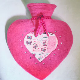 Wärmflasche klein - Pink Heart