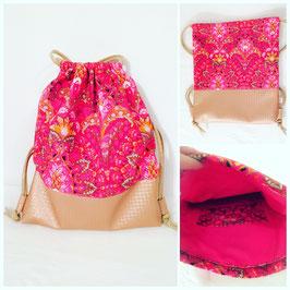 """Rucksackbeutel """"Oriental Pink"""""""