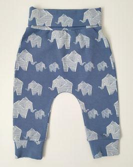 Modré sloníkové nohavice