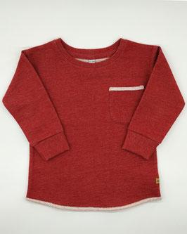 Červený pulóver z teplákoviny