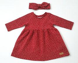 Frühlingskleidchen in rot mit Pünktchen