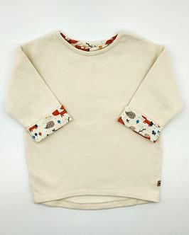 Krémový predĺžený pulover