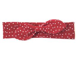 Stirnband in rot mit Pünktchen