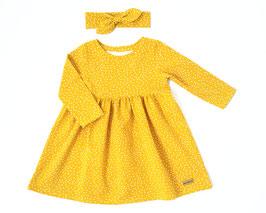Frühlingskleidchen in gelb mit Pünktchen