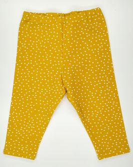 Žlté bodkované legínky