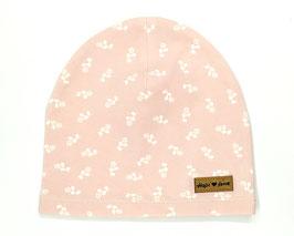 Mütze in rosa mit Rosen