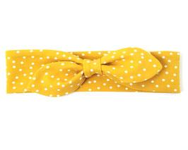 Stirnband in gelb mit Pünktchen