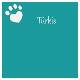 Futterbarplatte in der Farbe Türkis