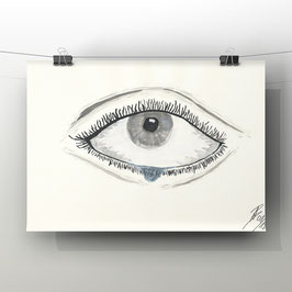 The Tear - Aquarell - 21x29,7 cm