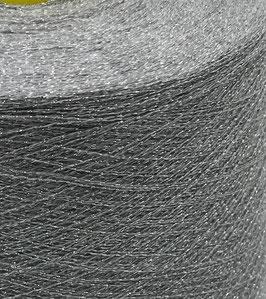 Dianalux mittelgrau mit Lurex silber
