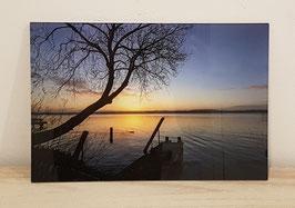 """Acrylglas """"Sonnenaufgang am Ratzeburger See"""""""