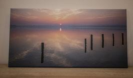 "Leinwandbild ""Sonnenaufgang am Ratzeburger See"""