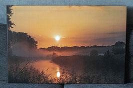 """Leinwandbild """"Sonnenaufgang an der Trave in Klein Wesenberg"""