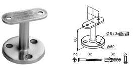 Handlaufträger HLTW-1200 für Brüstungen - Auflage flach