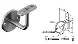 Wandhandlaufträger HLTW-1048 flach