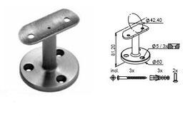 Handlaufträger HLTW-1210 für Brüstungen - Auflage rund