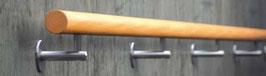 Fertighandlauf in Buchenholz mit Haltern und Montagematerial