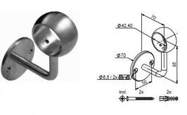 Wandhandlaufträger HLTW-1110 mit Ring