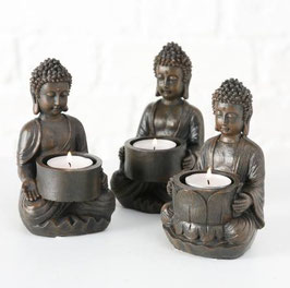 Buddha dunkel grau
