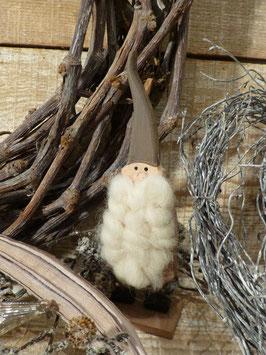 Zwerg mit Bart Holz