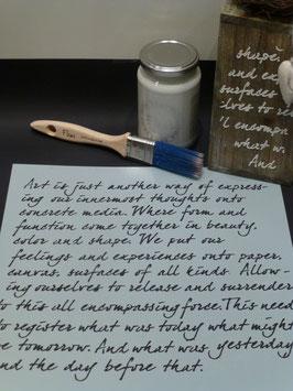Schablone Text / Art is
