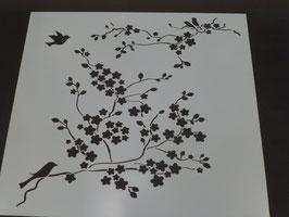 Schablone Cherry Blossom