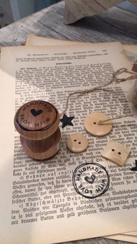 Holzstempel Handmade with love