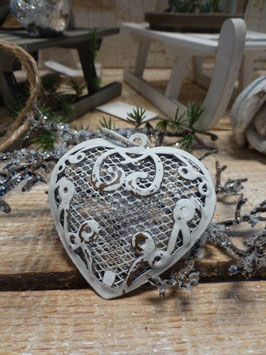 Ornament Herz Creme